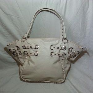 Olivia and Joy Cream Studded Shoulder Bag